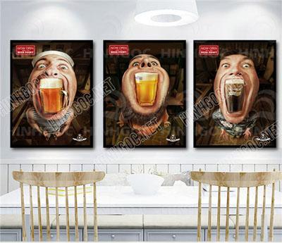 Tranh Cafe Treo Phòng Bếp 3 bức G11