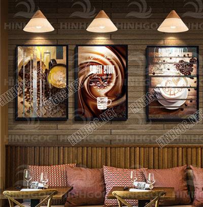 Tranh Cafe Treo Phòng Bếp 3 bức G12