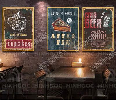 Tranh Cafe Treo Phòng Bếp 3 bức G13