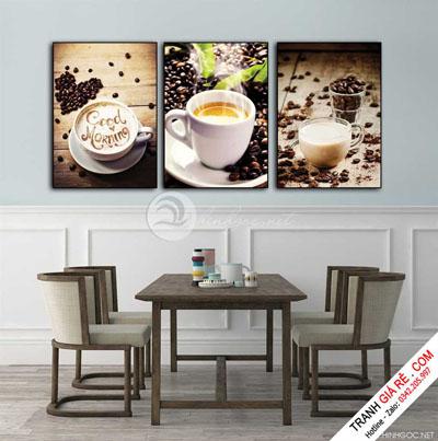 Tranh Cafe Treo Phòng Bếp 3 bức G16