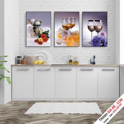 Tranh Cafe Treo Phòng Bếp 3 bức G18
