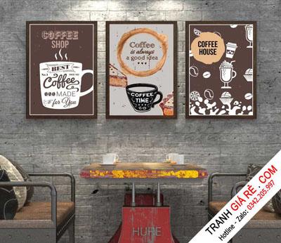 Tranh Cafe Treo Phòng Bếp 3 bức G21