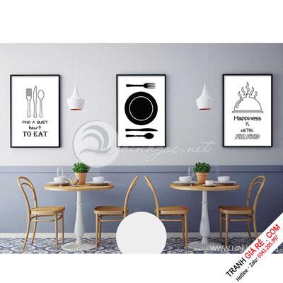 Tranh Cafe Treo Phòng Bếp 3 bức G6