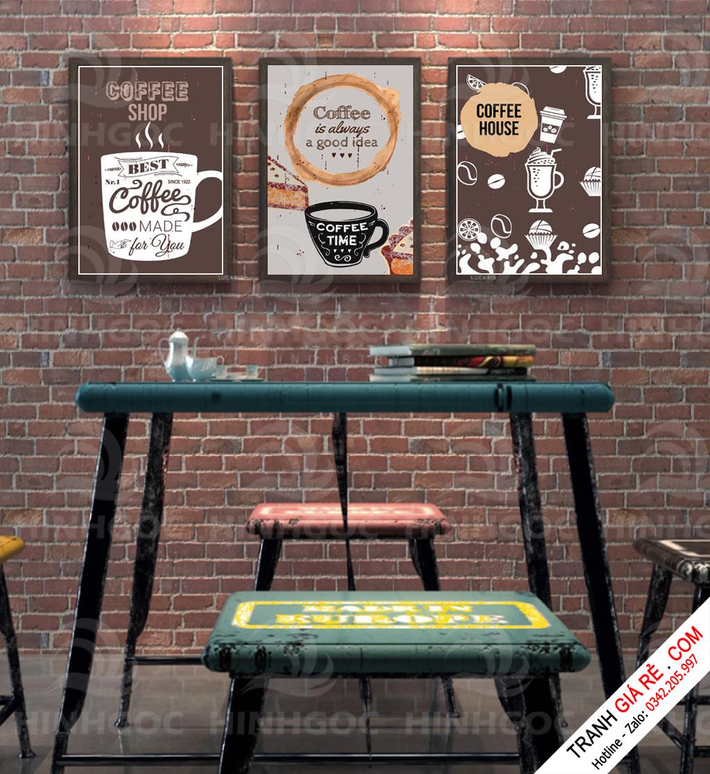 Tranh Cafe Treo Phòng Bếp 3 bức G14