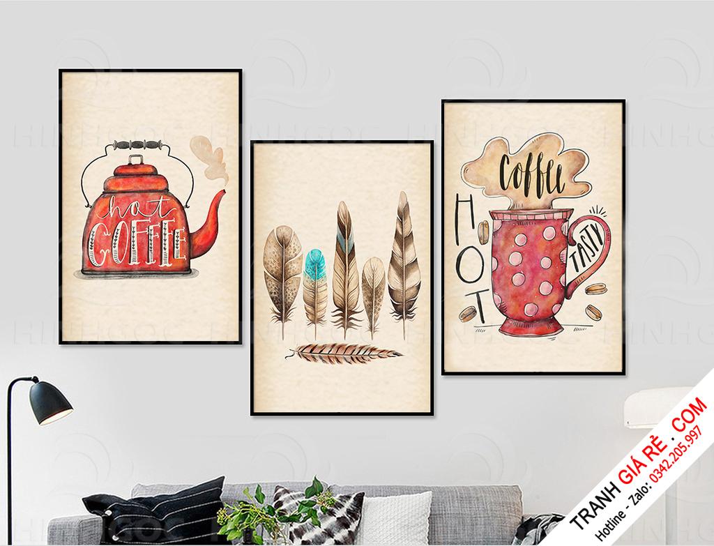 Tranh Cafe Treo Phòng Bếp 3 bức G15