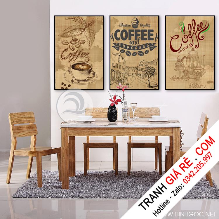 Tranh Cafe Treo Phòng Bếp 3 bức G19