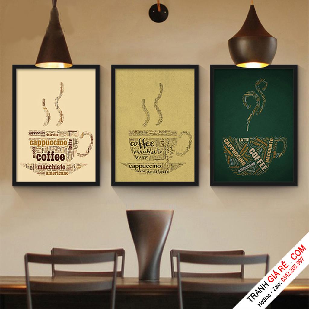Tranh Cafe Treo Phòng Bếp 3 bức G20