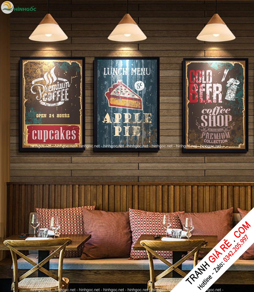Tranh Cafe Treo Phòng Bếp 3 bức G22