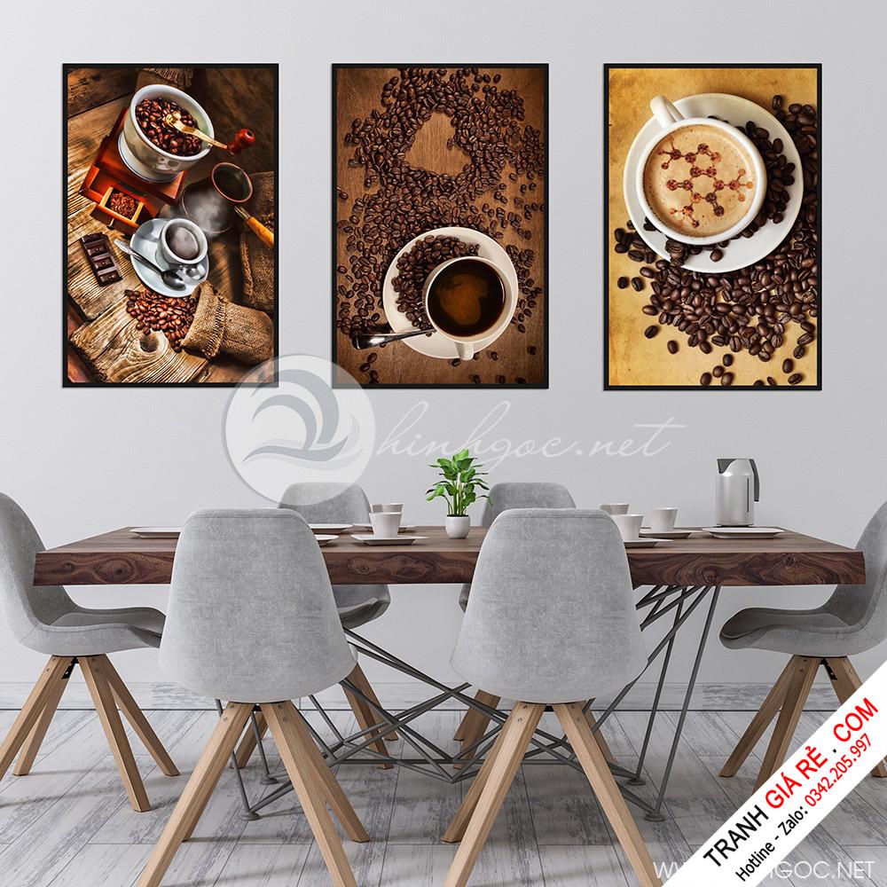 Tranh Cafe Treo Phòng Bếp 3 bức G3