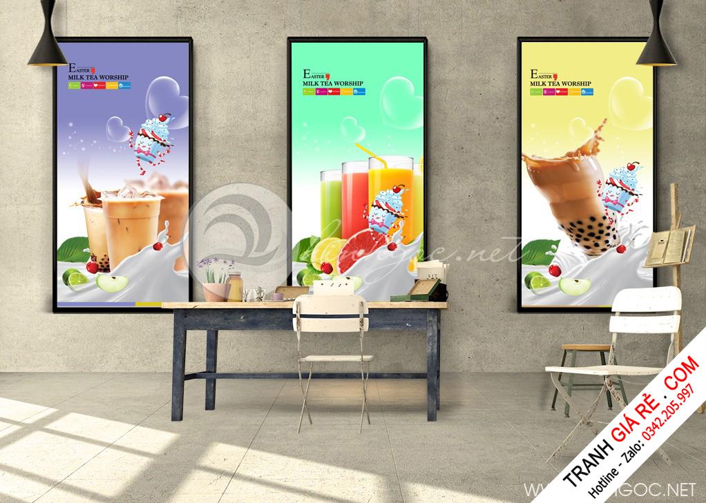 Tranh Cafe Treo Phòng Bếp 3 bức G5