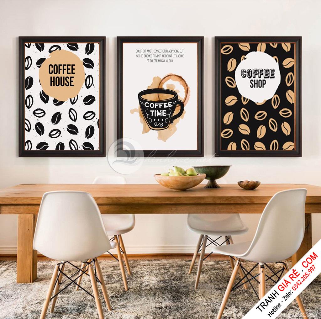 Tranh Cafe Treo Phòng Bếp 3 bức G9