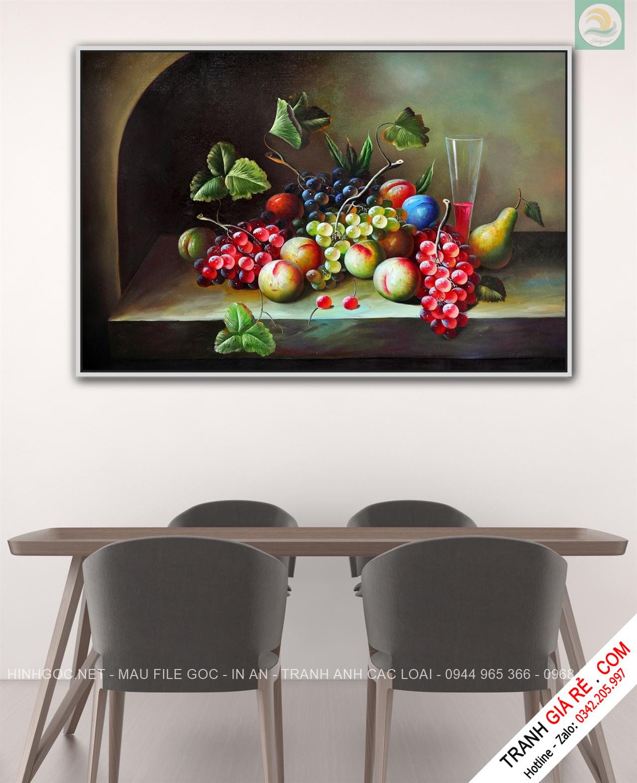 Tranh Hoa Treo Tường Phòng Bếp 1 bức G23