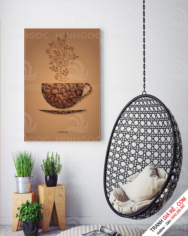 Tranh Ly Cafe 1 tấm G2