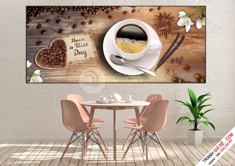 Tranh Ly Cafe 1 tấm G4